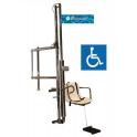 Elevador hidráulico para piscinas, facilita el acceso