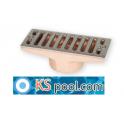 Rebosadero de bronce con rejilla en acero inox. piscina