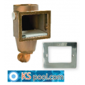 Skimmer piscinas bronce / acero inoxidable