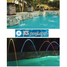 Fuente con luz LED para estanques y piscinas