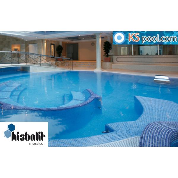 Gresite azul celeste niebla aral piscinas papel htk for Revestimiento piscinas gresite