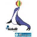 Gresite dibujo foca con pelota piscina HTK