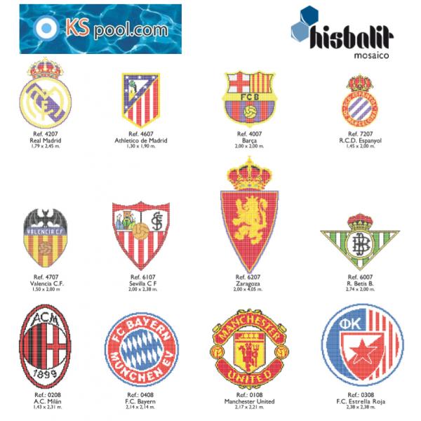 Gresite Dibujo Escudo Fultbol Real Madrid Piscinas Papel Hisbalit
