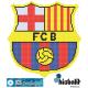 Gresite dibujo escudo futbol barcelona barça piscina