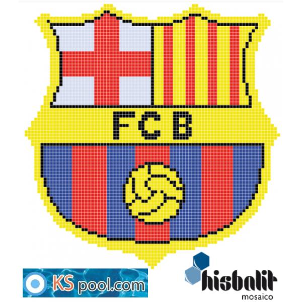 Gresite Dibujo Escudo Fultbol Barcelona Barça Piscinas Papel Hisbalit