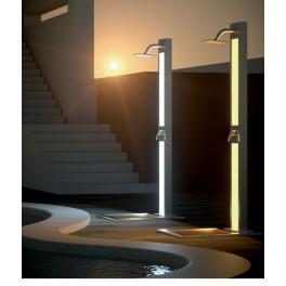Ducha con iluminacion led en acero inoxidable piscinas