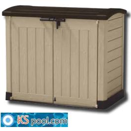 Caseta contenedor de depuración de superficie para piscinas