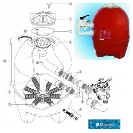 Repuestos / recambios filtro BALEAR BL Kripsol  piscina