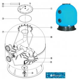 Repuestos kripsol filtro Artik Industrial AK piscinas