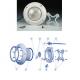 Recambios proyector foco piscinas extraplano Astralpool 00346