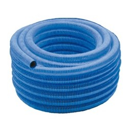 Manguera auto flotante, acabada en color azul y en diámetros 38 mm y 50 mm