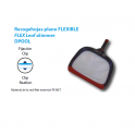 Recogehojas flexible plano fijacion clip piscinas
