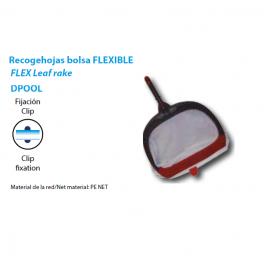 Recogehojas bolsa fondo flexible fijacion clip piscinas