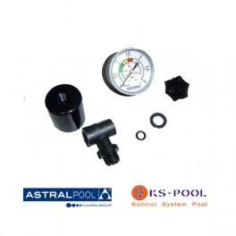 Recambio manómetro piscina con salida posterior astralpool