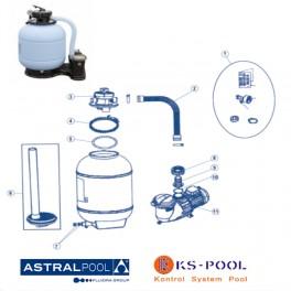 Recambios filtro monobloc compacto Astralpool
