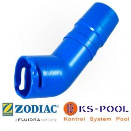Codo conector 45º Twist Lock para limpiafondos Zodiac W73011P.