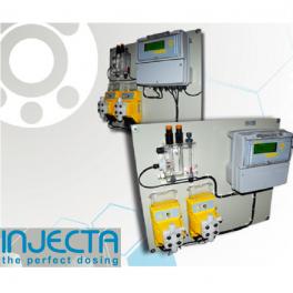 Panel dosificacion Injecta piscina para ajuste de ph y rx Helios 05