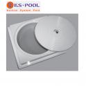 Recambio generico tapa circular y marco redondo skimmer astralpool piscinas