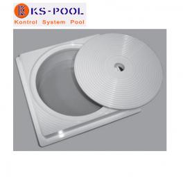 Recambio generico tapa circular y marco cuadrado skimmer astralpool piscinas