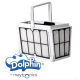 Cesto y paneles filtración ultra fino para limpia fondos Dolphin