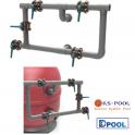 Bateria de 5 valvulas para filtros industriales de piscinas