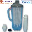 Filtro recogehojas y suciedad limpiafondos para piscinas