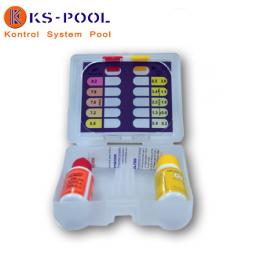 Estuche botes liquido analizador de pH y oto cloro para piscinas