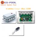Mando a distancia + caja control focos led colores piscinas