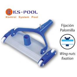 Carro Limpiafondos aluminio para limpieza de piscinas