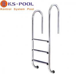 Escalera para piscina asimétrica muro aisi 316 acero inox.