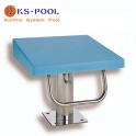 Podium azul de competicion para piscinas publicas y centros deportivos