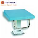 Podium azul para piscinas de competición, centros deportivos