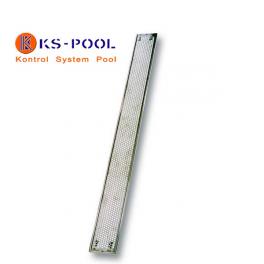 Placa de giro en acero inoxidable para piscinas de competición.