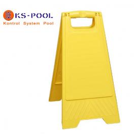 Panel tipo caballete anónimo para piscinas de competición.