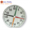 Cronometro cuatro agujas para piscina de competicion