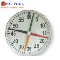 Cronometro de cuatro agujas para piscinas de competición
