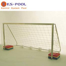 Porteria waterpolo inoxidable para piscinas de competicion