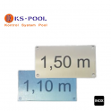 Placa marcación profundidad para piscinas residenciales, publicas