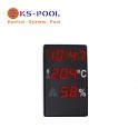 Reloj higrómetro para piscina de competicion