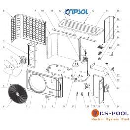 Repuestos bomba de calor KRIPSOL RC900