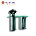 Anclaje 2 alojamiento acero inox. para corcheras de piscinas competicion