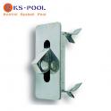 Anclaje modelo caja acero inox. para corcheras de piscinas competicion