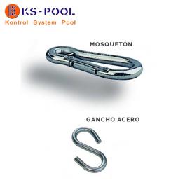 Mosqueton o gancho acero inox. para corcheras de piscinas competicion
