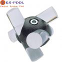 Nudo sujeción tubo voley flotante waterpolo para piscinas de competicion
