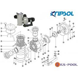 Repuestos / recambios bomba Kapri KAP Kripsol HCP3800 Hayward piscina