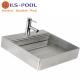 Lavamanos de acero inoxidable para piscinas, baños, vestuarios