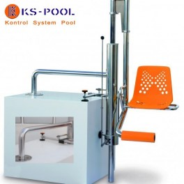 Elevador hidráulico fijo para piscinas que facilita el acceso