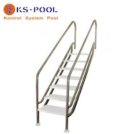 Escalera piscina de facil acceso AISI 316