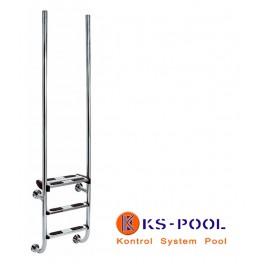 Escalera de diseño con barras verticales AISI 316
