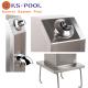 Ducha lavapies de acero inoxidable para piscinas y exteriores